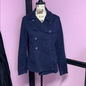 Corduroy pea coat size extra 12
